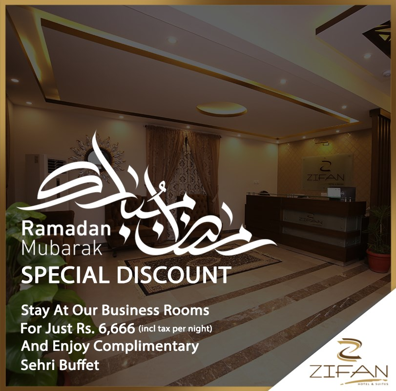 Avail the Amazing Discounts this Ramadan on Zifan Business Rooms